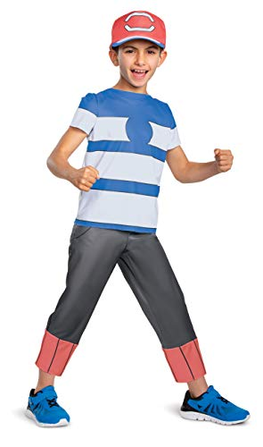 Disguise Ash Ketchum Alolan Pokemon Boys' Costume