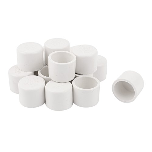 25mm Water Pipe Fittings PVC Slip End Cap Cover White 16pcs - End Cap Slip