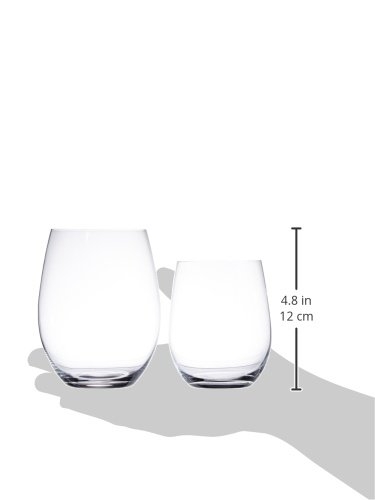 Riedel O Wine Tumbler Cabernet/Merlot and Viognier/Chardonnay, Set of 4, Clear - 7414/50