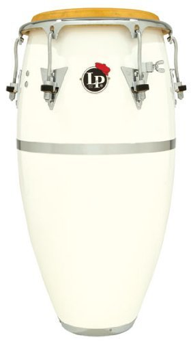Latin Percussion LP Patato Model 12-1/2'' Fiberglass Tumbadora - White/Chrome by Latin Percussion
