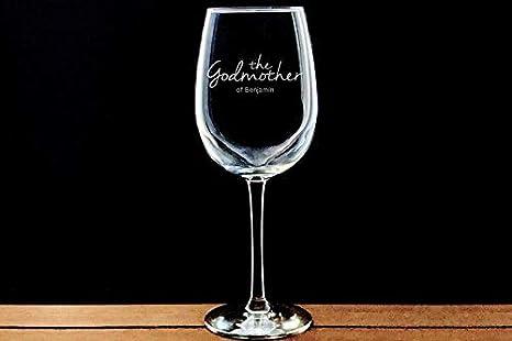 Copa de vino divertida para madrina, copa de vino grabada, regalo para padrinos, regalo de bautismo para madrina, cristal con chorro de arena, bautizo, regalo grabado, regalo de cumpleaños y Navidad