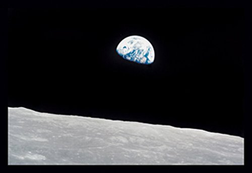 "Buyenlarge Earthrise 1968 Apollo 8 As8-14-2383 by NASA Wall Decal, 48"" H x 32"" W from Buyenlarge"