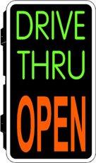 Drive Thru Open Backlit Illuminated Window Sign