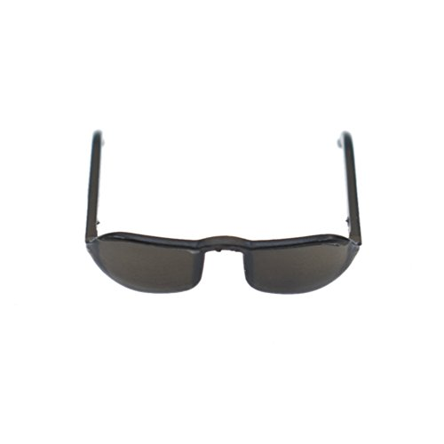 Towashine 1/6 Scale Black Glass Sunglasses Clothes for 12 inches Action Figures - Scale 1/6 Sunglasses