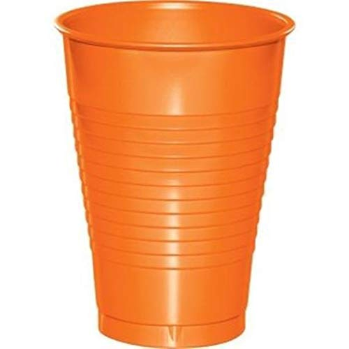 hersrfv home Orange 12oz Plastic Cups 20 Per Pack