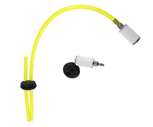 6PCS 2 Hole Fuel Line Pipe Hose Fuel Filter Grommet Filter Breather Tool Set ()