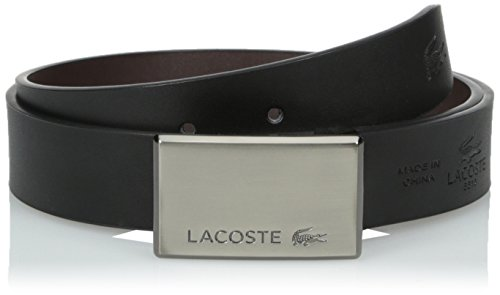 Lacoste Men's Premium Smooth Leather Belt with Interchang...