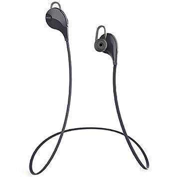 MegaTek® QCY QY7 Auriculares inalámbrico deporte bluetooth Auriculares estéreo de Bluetooth 4.1 con micrófono Negro