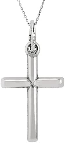 Children's Sterling Silver Baby Cross Pendant Kids Necklace 16 Inches