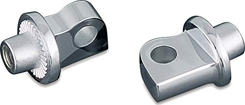 Adapters Footpeg Rear - Kuryakyn 8881 Splined Male Mount Peg Adapters for Front/Rear Footpegs and Floorboards: 2010-19 Harley-Davidson Motorcycles, Chrome, 1 Pair