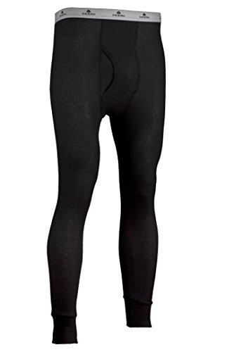Indera Men's Traditional Long Johns Thermal Underwear Pant, Black, Small