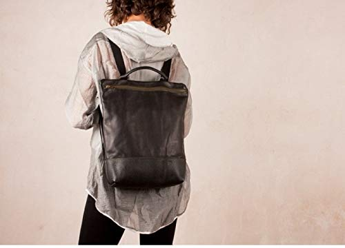 Mochila de cuero negra, mochila cuero, mochila de piel, mochila mujer cuero,