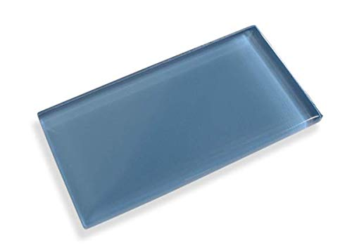 Denim Blue 3X6 Made to Order Glass Subway Tiles - 10 Square Feet