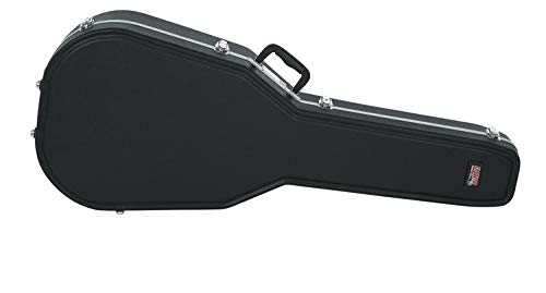 Gator Cases Deluxe Molded Case for Acoustic Guitars; Fits Ovation Style Deep Contour Acoustic Guitars (GC-DEEP BOWL)
