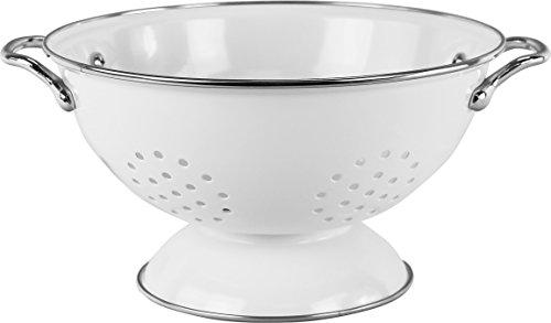 Enamel Decoration (Calypso Basics by Reston Lloyd Powder Coated Enameled Colander, 3 Quart, White)