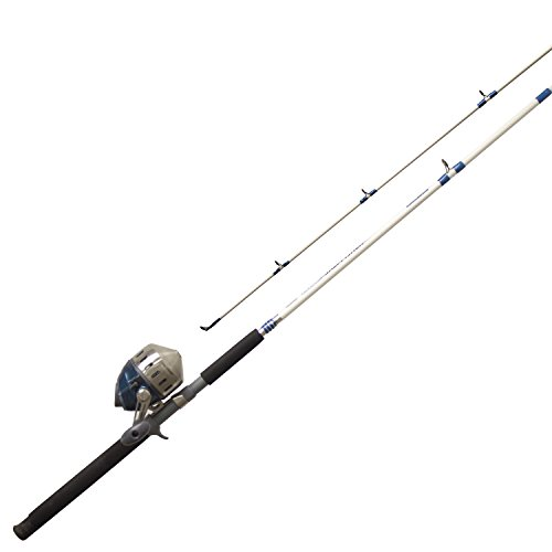 (Zebco 808HSF702MH, 20, NS3 808 Series Spincast Combo, Saltfisher, 7' Length 2Piece, Medium Action)