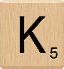 Amazon.com: (10) GENUINE Scrabble Letter K Tiles, Lazar (Laser