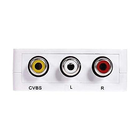 DaoRier Adaptador Conversor de se/ñal HDMI a AV RCA Analogica Video NTSC//PAL HDMI-to-AV