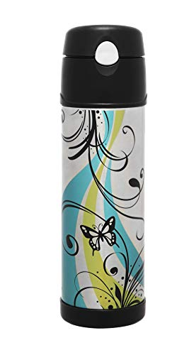 Thermos Stainless Steel Vacuum Insulated Hydration Bottle, 530ml, Butterfly, HS4010AUS
