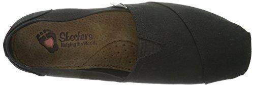 37753 de Mujer BLK Zapatos Negro Skechers lona danFpd4