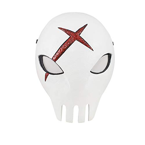 Comics Teen Titans Red X Mask White Skull Mask Cosplay Props with Xcoser Logo -