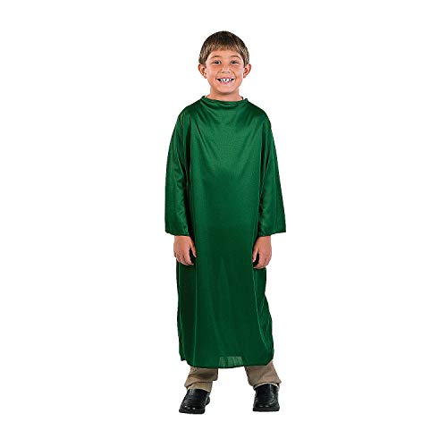 Fun Express - Child Small Green Nativity Gown for Christmas - Apparel Accessories - Costumes - Kids - Unisex Costumes - Christmas - 1 ()