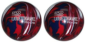 EPCO-Duckpin-Bowling-Ball-Urethane-Pro-Line-Dark-Red-Royal-White-2-Balls