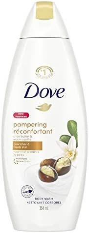 Dove Body Wash with skin natural nourishers Pampering Shea Butter & Warm Vanilla for instantly soft skin a