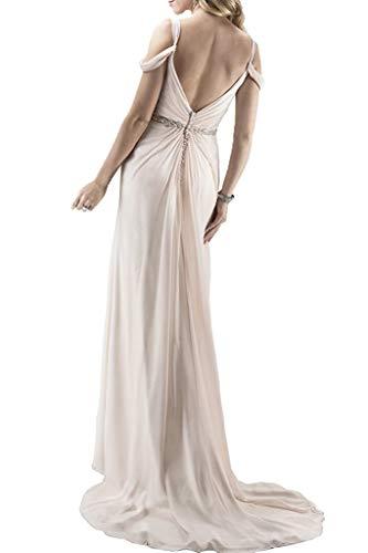 A Lilac Lang Festlichkleider Chiffon Traeger mia Braut Standsamt Rock Linie Abendkleider Ballkleider Zwei La Kleider vPf16nq6