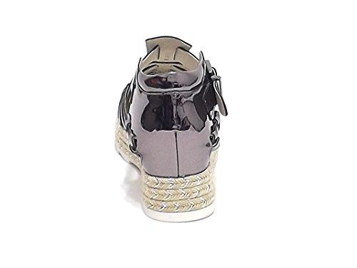 Barachini - Sandalias de vestir para mujer gris gris