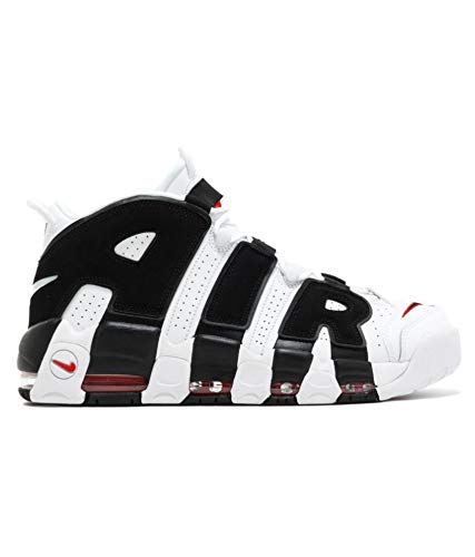 996b48349b24 Air More Uptempo White Black Men s Basketball Shoes (10 UK)  Buy ...