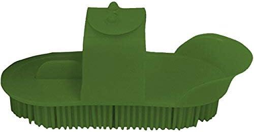 (リンカーン) Lincoln 馬用 プラスチック製 カリーコーム ブラシ 乗馬 グルーミング お手入れ ホースライディング (L) (グリーン)