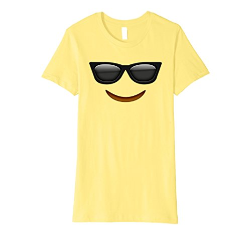 Womens Halloween Emoji Costume T-shirt Small Lemon (Halloween 2017)