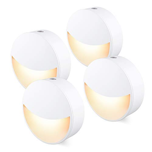 [4Pack] Night Light Plug in with Auto Dusk to Dawn Sensor, Energy Save, Warm Nightlight for Kids, Adults, Hallway, Bedroom, Kitchen, Stairway, Bathroom