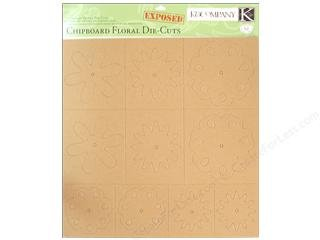 K&COMPANY Exposed Chipboard, Floral Die-Cuts