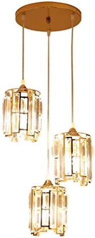 用リビングレストランラウンドクリスタルペンダント器具照明クラシック3Arms透明ジュエルクリスタルランプシェードと天井シャンデリア照明