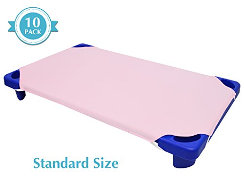 American Baby Company 10-Piece 100% Cotton Percale Standard Day Care Cot Sheet, Pink, 23″ x 51″ – The Super Cheap