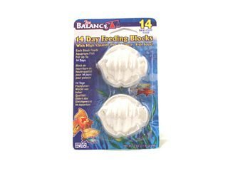 Penn-Plax Pro Balance 14-Day Vacation Feeding Blocks Fish Shape (Pack of 2)