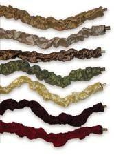 "A&M Designs, Inc., Cord Coverups Silk Cord Cover-Lamp Style, Black, Material: 100% Dupioni Silk, Dimensions: 9'L x 2""W, Qty: 1 Clean Dupioni Silk"