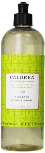 Caldrea Dish Soap, Ginger Pomelo, 16 Fluid Ounce (Pack of 2) by Caldrea