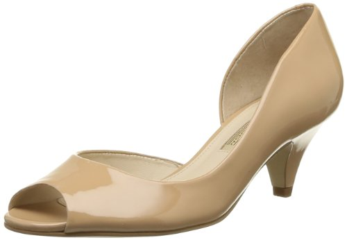 Buffalo London 104X-009 PATENT, Damen Peep-Toe Pumps, Beige (FORGET ME NOT 01), 40 EU