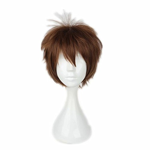 (COSPLAZA Cosplay Wig Short Men Heat Resistant Adult Christmas Synthetic Hair Brown )