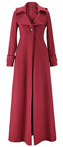 c83551cec904 Bestfort Mantel Damen Parka Trenchcoat Elegant Lang Wolle Gute Qualität  Übergang Langarm Wollmantel Wintermantel Herbst Rot