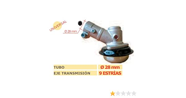 MARBEGARDEN Codo transmision desbrozadora 9 estrias 28mm: Amazon ...