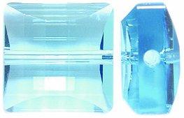 Swarovski Stairway Beads, Transparent Finish, 14mm, Aquamarine, 2-Pack 14 Mm Stairway Bead