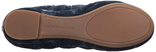 outlet fashion Style Lucky Women's Emmie Ballet Flat Worn Denim sale exclusive XIaNcz8