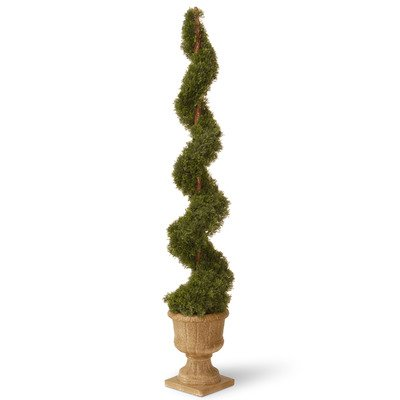 National Tree 60 Inch Cedar Spiral Plant in Decorative Urn (LCYSP4-705-60) by National Tree Company