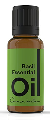 Cielune Basil Essential Oil - 100% Pure, All Natural Premium Ocimum Basilicum Oil - Therapeutic Grade for Alternative Medicine - Ideal for Aromatherapy & Massage - Used for Healthy Digestion, Natural Acne Care, Pain Relief, Depression, Insect Bites & Stings, Circulation, Respiratory Health & More - Satisfaction Guaranteed - 10ML