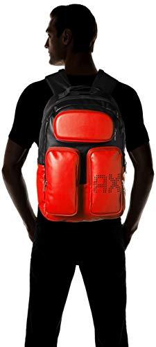 black Naranja Armani Backpack Exchange Pockets flame Hombre Mochila fg8ZBxq