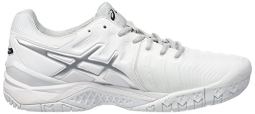 Uomo Asics Scarpe silver resolution Tennis 7 Gel 0193 Multicolore Da white OqrSYOB